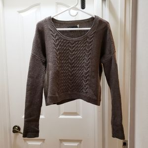 alice + olivia Boxy Cable Knit Wool Sweater